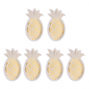 Blesiya 8 Shiny Gold Pineapple Shaped Paper Plates Wedding Summer Party BBQ Supplies