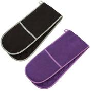 Prime Homewares® Plain Colour Double Oven Gloves, Pot Holders 100% Cotton Glove Heat Resistant Various Colours