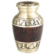 Keepsake Funeral Urn by Meilinxu- Mini Cremation Urn for Human Ashes Adult - Brass Hand Engraved - Fits a Small Amount of Cremated Remains- Display Burial Urn at Home or Office (Tranquilly Brown Baby