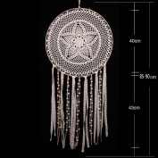 Handfly Lace Large Dream Catcher Wall Hanging Decoration Feather Dreamcatcher for car mirror Gift
