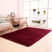 Bovake Fluffy Rugs Anti-Skid Shaggy Area Rug Dining Room Home Bedroom Carpet Floor Mat