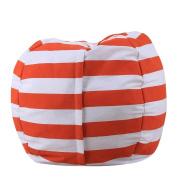 Sisit Kids Stuffed Animal Plush Toy Storage Bean Bag Soft Pouch Stripe Fabric Chair Practical Convenient Universal bag Perimeter:1.4m/140cm ,Diameter:0.4m/41cm