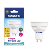 Ecozone LED GU10 biobulb, Energy Saving, Daylight Bulb, 7W Equivalent to 50W, 550 Lumens, 6500K Daylight, Up To 86% Energy Saving, GU10 Fitting, Up To 25,000 Hours Lifetime, Energy Class A+, Ideal for Hobbies, Crafts and Photography