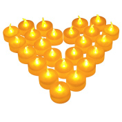 Christmas LED Candles,24 PCS LED Flameless Tealight Candles for Xmas Christmas,Thanksgiving,Party,Wedding,Festival Celebration & Decoration,Battery Included