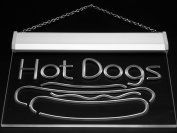 Multi Colour i519-c Hot Dog Dogs Cafe Lounge Lure Neon LED Sign with Remote Control, 20 Colours, 19 Dynamic Modes, Speed & Brightness Adjustable, Demo Mode, Auto Save Function