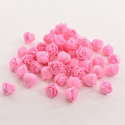 bismarckbeer 50Pcs Mini Artificial Roses DIY Craft Gift Candy Box Decor