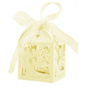 bismarckbeer 50Pcs Laser Cut Chocolate Candy Gift Boxes Wedding Party Favours Gift Bags