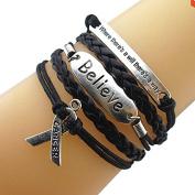 Cancer Awareness Bracelet, Believe Bracelet, Infinity Bracelet, Makes the Perfect Gift For Survivors