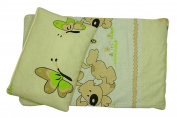 "Dolls Teddy Quilt /Duvet Pillow Bedding Set Fits Up to 46cm 18"" Doll Pram /Cot"