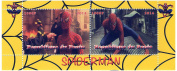 Spider-Man stamp sheet scenes from movie Spiderman 2 - 2 stamps issued 2014 / Republic Benin / MNH