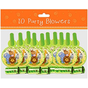 PACK OF 20 UNISEX JUNGLE THEME BIRTHDAY PARTY BLOWERS - 6757