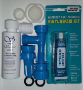 BLUE MAGIC WATERBED FILL & DRAIN PATCH CAP & PLUG (120ml) CONDITIONER KIT