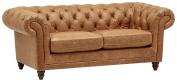 Stone & Beam Bradbury Chesterfield Modern Sofa, 200cm W, Cognac