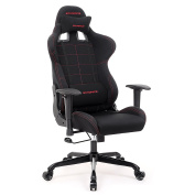 SONGMICS Gaming Chair Racing Sport Chair High-back Office Chair with the Headrest and Lumbar Support Black URCG001