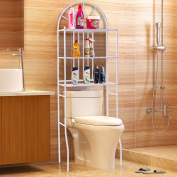 Tangkula 3 Shelf Over The Toilet Bathroom Space Saver, Toilet Rack Organiser White