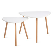 HOMFA Nesting Coffee End Tables Modern Furniture Decor Side Table for Living Room Balcony Home and Office