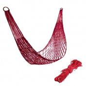 Voberry® Portable Nylon Parachute Outdoor Net Bed Double Camping Hammock Random Colour