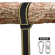 Tree Swing Strap 3m, Oak Leaf Extra Long Tree Swing Hanging Kit with 2 Heavy Duty Hooks, Holds 500kg, Perfect for Tyre & Disc Swings & Hammocks