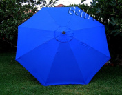 "BELLRINO DECOR Replacement ROYAL BLUE "" STRONG & THICK "" Umbrella Canopy for 2.7m 8 Ribs"
