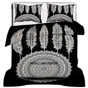 """Janki Creation Dream Catcher Black & White Reversible Duvet Cover With Pillow Cover, Mandala Bedding,Mandala Duvets, Mandala Bedroom Decor, boho Comforter Cover, Bohemian Doona Cover """"200cm X 210cm"""