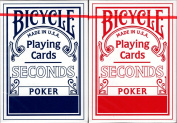 Bicycle Factory Seconds 2 Deck Set Blue & Red Playing Cards Poker Size USPCC