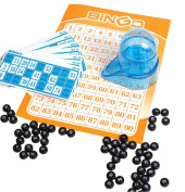 Portable Car Travel Bingo Game - Bingo Game Kit for Kids Boys Girls Adults Family - Ideal for Bridal Showers Christmas Holidays Parties - Vintage Learning Toy Minii Bingo Set by Perfect Life Ideas