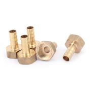 Unique Bargains 25mm x 33mm Female Hose Barb Adapter Fitting Brass Tone 5 Pcs