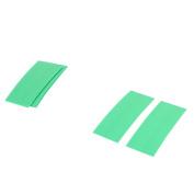 Unique Bargains 10pcs 72mm x 18.5mm PVC Heat Shrink Tubing Green for 1 x 18650 Battery
