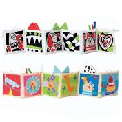 Kolamom Clip-On Baby Pram Carriage Crib Stroller Cloth Books Crinkle Soft Book for Babies Early Development Learning & Education Toys for Newborn Infants Toddlers Children Kids
