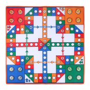 Domybest Baby Playing Rug Game Pad Flying Chess Carpet Kids Education Developing Mat 82x82x0.3 cm