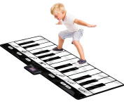 Jeteven Piano Mat Activity Gym Play Mats Learn Singing Toy for Kids 180x74cm
