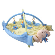 Jeteven Baby Play Mat Activity Gym Play Mat Musical & Toys 2 in 1 Blue 105X80X60cm