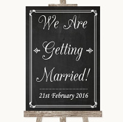 Chalk Style Wedding Sign Collection Chalk Style We Are Getting Married Wedding Sign