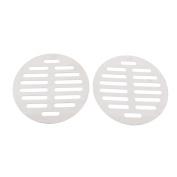 "Stainless Steel Kitchen Bathroom Round Floor Drain Cover 4.4"" 11.3cm 2pcs"