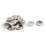 Unique Bargains 20 Pcs Stainless Steel Bathroom Waste Filter Drain Stopper 42mm Head Dia Sink Strainer