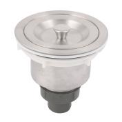 Unique Bargains Bathroom Round Shape Basket Style Basin Sink Strainer Drainer Stopper