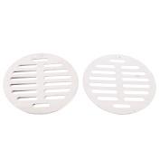 "Unique Bargains Stainless Steel Kitchen Bathroom Round Floor Drain Cover 4.4"" 11.3cm 5pcs"