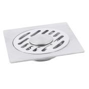 Kitchen Bathroom Metal Two Way Sink Floor Drain Strainer Cover 98 x 98mm