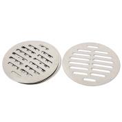 Unique Bargains Stainless Steel Round Sink Floor Drain Strainer Cover 11cm Dia 4pcs