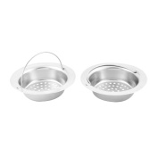 Family Kitchenware Stainless Steel Sink Garbage Stopper Filter Strainer 2 PCS