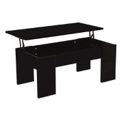 Coffee Table Liftable Black