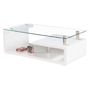 Coffee Table High Gloss Rectangle White