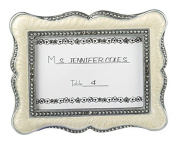 6 x Ivory Pewter Victorian Vintage Wedding Photo Frame Place Card Holder Favours