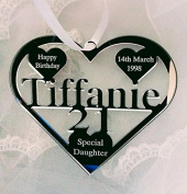 18TH 21ST BIRTHDAY GIFT WITH NAME ,PERSONALISED, DATE, KEEPSAKE HAND MADE