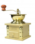 bisetti 69041 Arpeggio Coffee Grinder, Olive Wood, Cream
