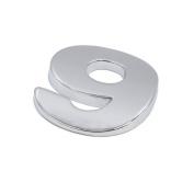 sourcingmap Silver Tone 9 Digital Shaped Car Exterior Emblem Badge 3D Sticker Decor