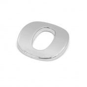 sourcingmap Silver Tone Metal 0 Digital Shaped Car Exterior Emblem Badge 3D Sticker Decor