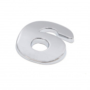sourcingmap Silver Tone Metal 6 Digital Shaped Car Exterior Emblem Badge 3D Sticker Decor