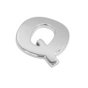 sourcingmap Silver Tone Metal Q Letter Shaped Car Auto Exterior Emblem 3D Sticker Decor