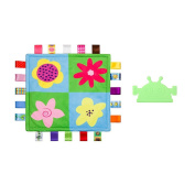 INCHANT Baby Soothing Towel Tag Security Blanket & Green Soft Chewable Robot Baby Teether, 2 pcs
